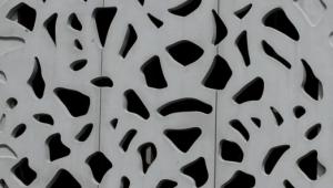 Le LaM. Détail de mur extérieur. Architecture de Manuelle Gautrand